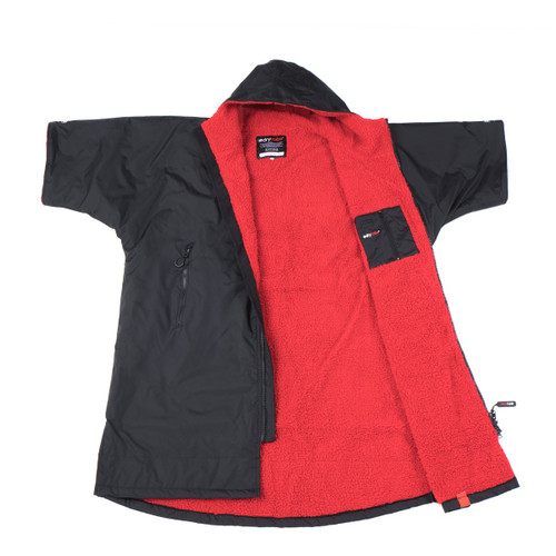 Dryrobe - Advance Short Sleeve - Black/Red