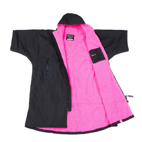 Dryrobe - Advance Short Sleeve - Black/Pink