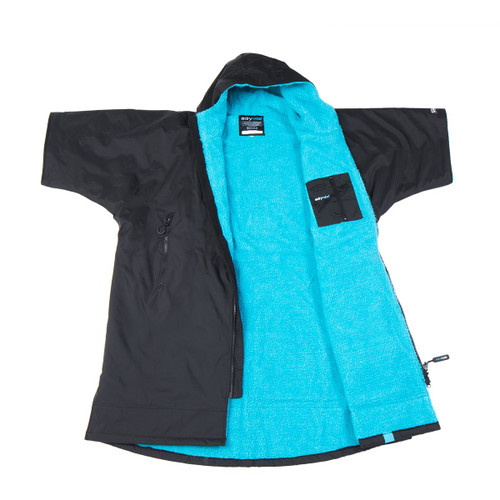 Dryrobe - Advance Short Sleeve - Black/Blue