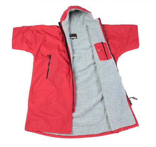 Dryrobe - Advance Short Sleeve - Red/Grey