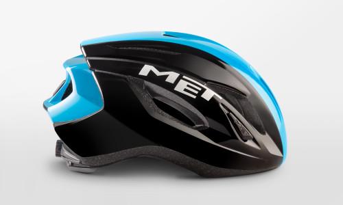 MET - Strale Black Cyan Panel Helmet