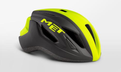 MET - Strale Black Yellow Panel Helmet
