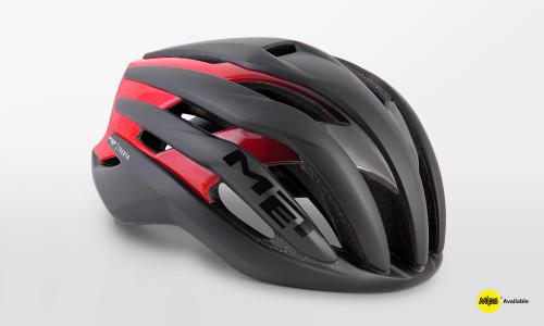MET - Trenta Black Shaded Red Helmet
