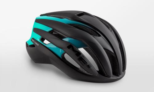 MET - Trenta Blue Shaded Black Helmet