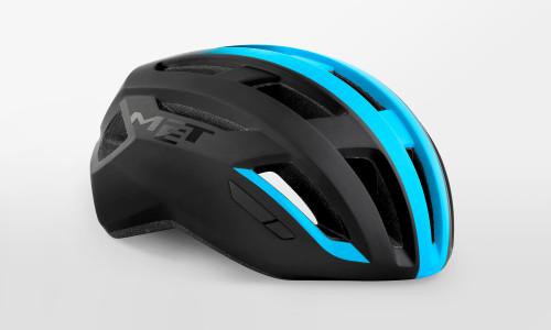 MET - Vinci Mips Black Shaded Cyan Helmet
