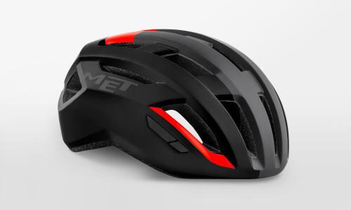 MET - Vinci Mips Black Shaded Red Helmet