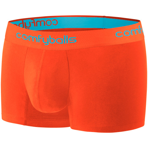Comfyballs - Performance Regular Boxer - Men's - Sunset Orange - Blue