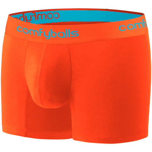 Comfyballs - Performance Men's Long Boxer - Sunset Orange/Blue