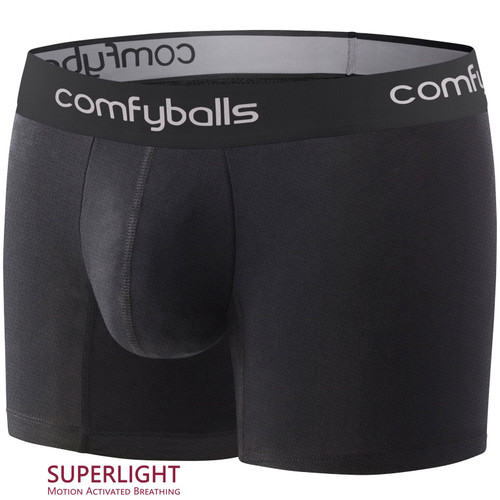 Comfyballs - Performance Regular Superlight Men's Boxer Shorts - Pitch Black