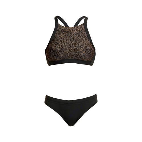 Funkita - Hi Light Women's Swim Top  - Leather Skin