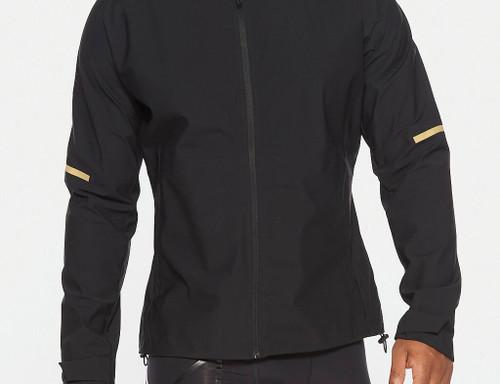 2XU - GHST Waterproof Men's Jacket - Black/Gold Reflective