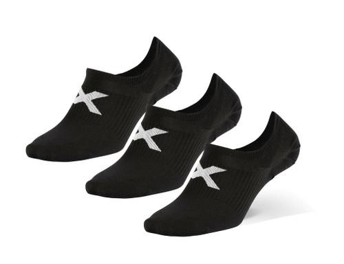 2XU - Unisex Invisible Socks 3-Pack - Black/White - Autumn/Winter 2020