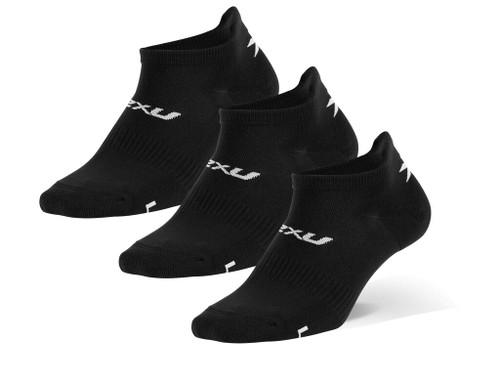 2XU - Unisex Ankle Socks 3-Pack - Black/White - Autumn/Winter 2020