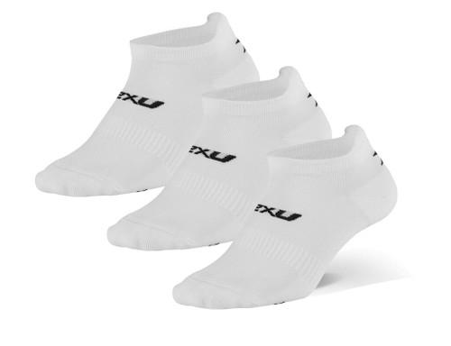 2XU - Unisex Ankle Socks 3-Pack - White/Black - Autumn/Winter 2020