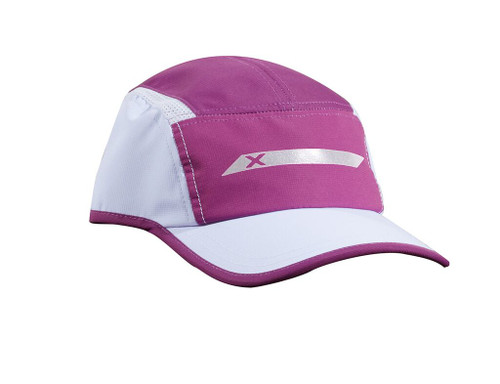 2XU - Unisex Vented Run Cap - Butterfly Effect White/White Reflective - Autumn/Winter 2020