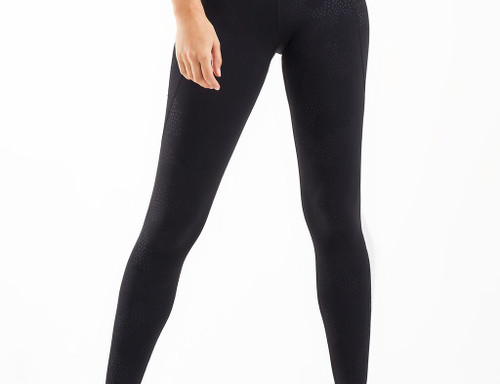 2XU - Women's Fitness New Heights Compression Tights - Embossed Blossom Camo/Black Outline - Autumn/Winter 2020