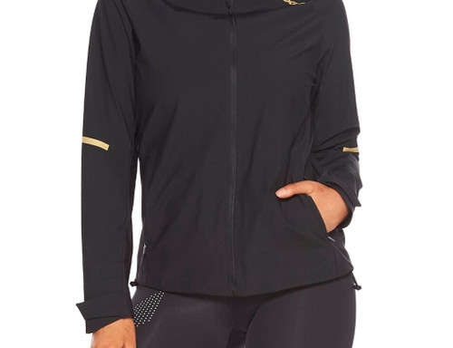 2XU - Women's GHST Waterproof Jacket - Black/Gold Reflective - Autumn/Winter 2020