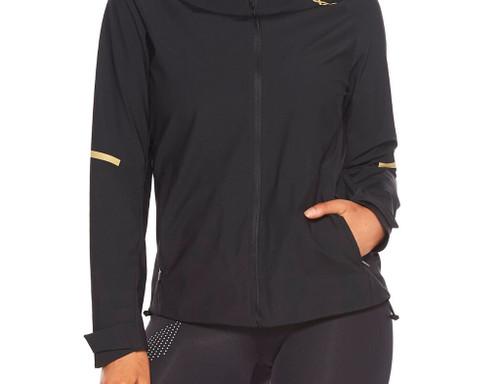 2XU - Women's GHST Waterproof Jacket - Black/Gold Reflective