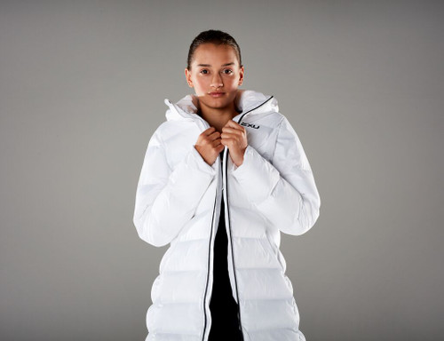 2XU - UTILITY Women's Insulated Longline Jacket - White/Black - Autumn/Winter 2020