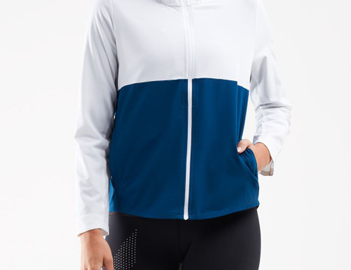 2XU - XVENT DWR Women's Jacket - White/Poseidon - Autumn/Winter 2020