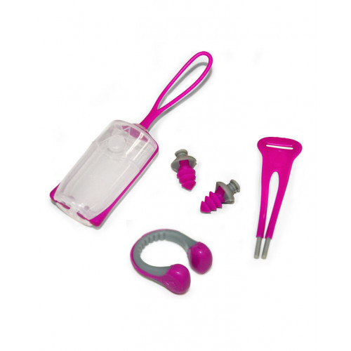 Aqua Sphere - EAR PLUGS NOSE CLIP - Pink/Grey