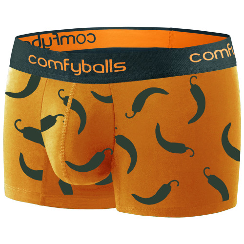 Comfyballs - Men's Regular Cotton Boxers - Hot Chilli