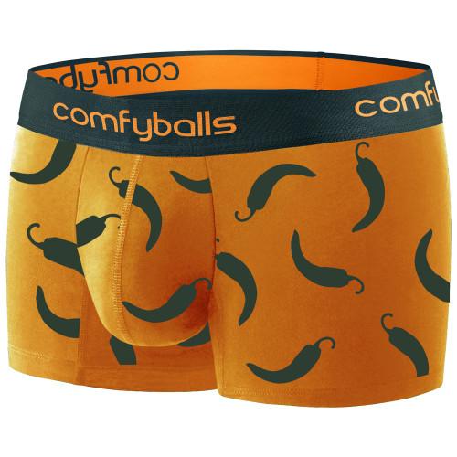 Comfyballs - Men's Regular Cotton Boxers - Hot Chilli