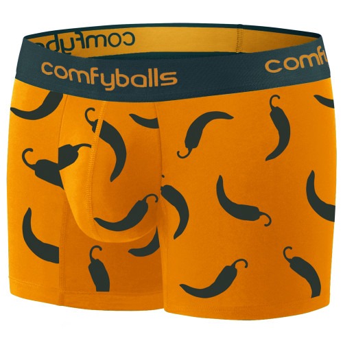 Comfyballs - Cotton Long Boxer - Men's - Hot Chilli