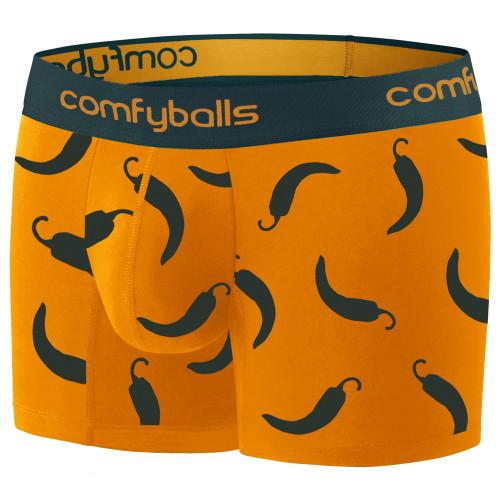 Comfyballs - Cotton Long Boxer - Men's - Hot Chilli