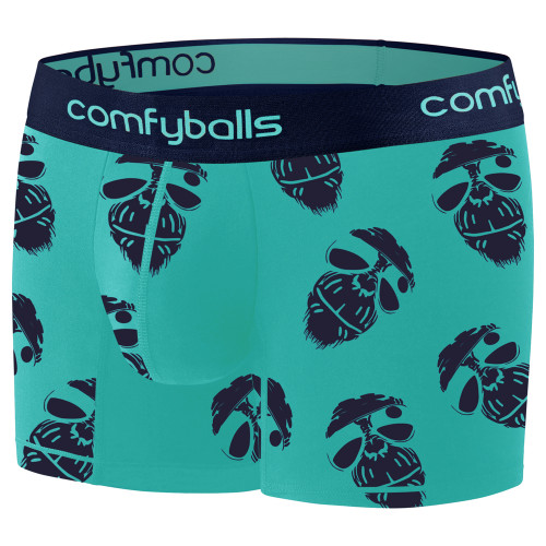 Comfyballs - Men's Cotton Long Boxer - Cool Monkey