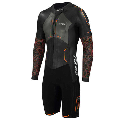 Zone3 - Evolution Men's Swimrun Wetsuit 2021 - Black/Orange/Gunmetal