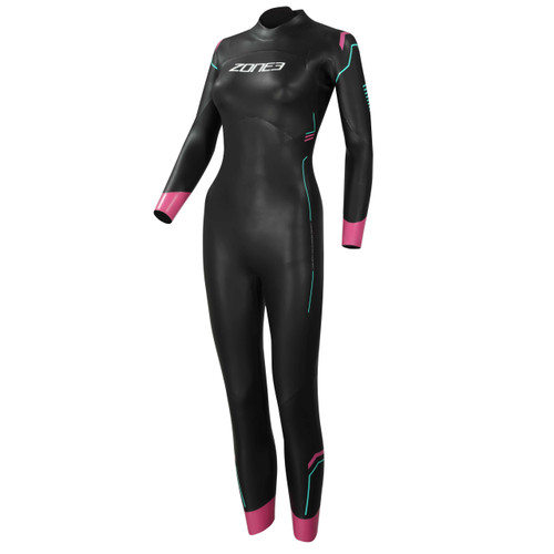 Zone3 - Women's Agile Wetsuit 2021 - Black/Pink/Turquoise