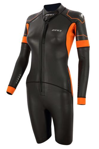 Zone3 - Versa Women's Wetsuit 2021 - Black/Orange/Gunmetal