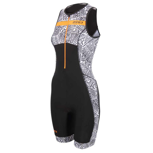 Zone3 - Activate+ Kona Speed Women's Sleeveless Trisuit 2021 - Black/White/Orange