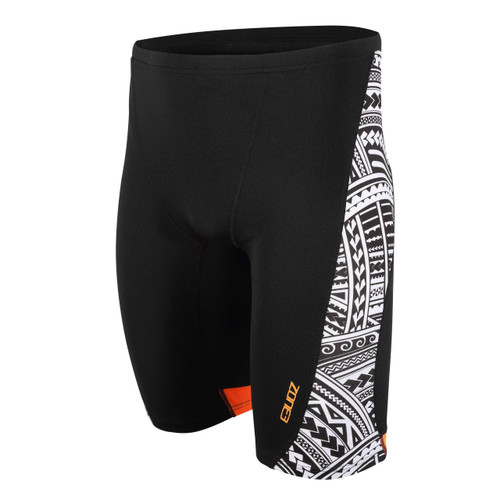 Zone3 - Kona Men's Tribal Print Speed Jammers 2021 - Black/White/Orange