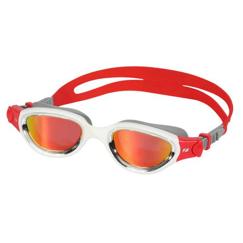 Zone3 - Venator-X Goggles 2021 - Silver/White/Red - Polarising Revo Red lenses