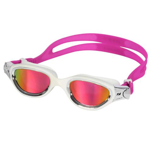 Zone3 - Venator-X Goggles 2021 - White/Silver, Polarising Revo Pink lenses