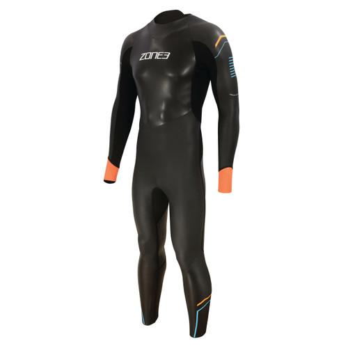 Zone3 - Men's Aspect 'Breaststroke' Wetsuit 2021 - Black/Blue/Orange