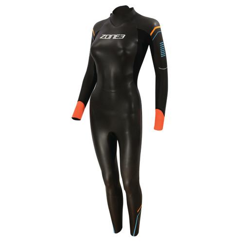 Zone3 - Women's Aspect 'Breaststroke' Wetsuit 2021 - Black/Blue/Orange