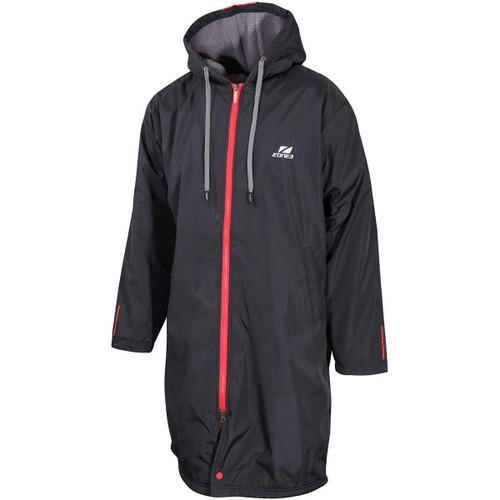 Zone3 - Unisex Polar Fleece Parka Robe Jacket 2021 - Black/Grey