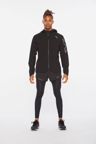 2XU - Light Speed Men's Waterproof Jacket 2021 - Black/Silver Reflective