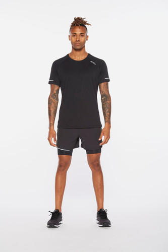 2XU - Aero Men's T-shirt 2021 - Black/Silver Reflective