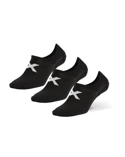 2XU - Invisible Unisex Socks 3-Pack 2021 - Black/White