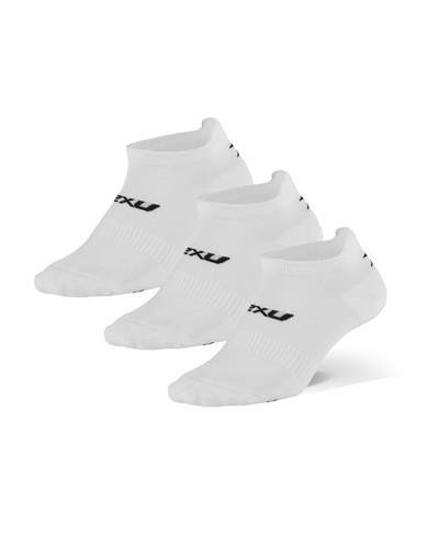 2XU - Unisex Ankle Socks 2021, 3-Pack - White/Black