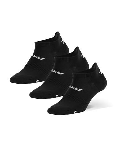 2XU - Unisex Ankle Socks 2021, 3-Pack - Black/White