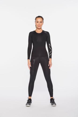 2XU - Women's Core Compression Long-Sleeve Top 2021 - Black/Silver