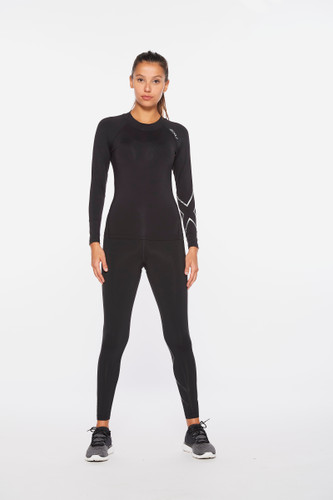 2XU - Ignition Women's Compression Long-Sleeve Top 2021 - Black/Silver