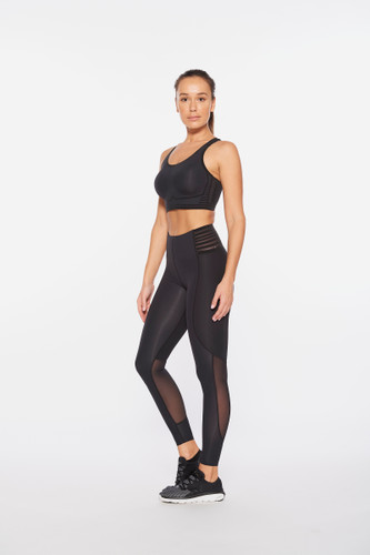 2XU - Breeze Mesh Hi-Rise Tights - Women's - Black/Black - 2021