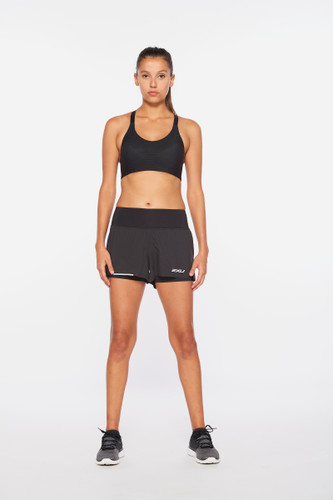 2XU - Aero Women's 2-In-1 3in Shorts 2021 - Black/Silver Reflective