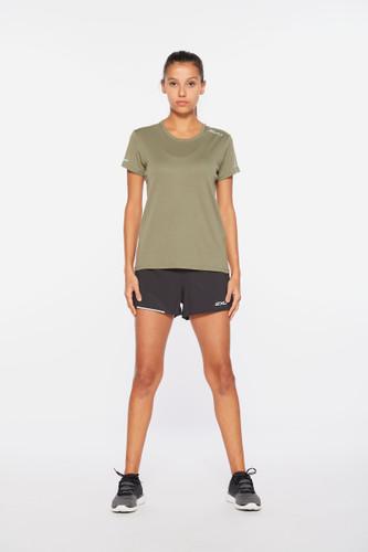 2XU - Aero Women's T-shirt 2021 - Alpine/Silver Reflective